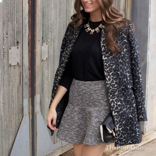 LOFT leopard print car coat, LOFT leopard print coat, leopard print coat