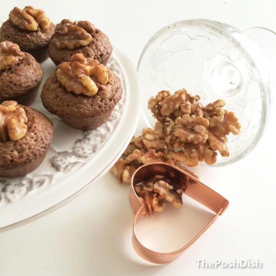 Walnut brownie bites
